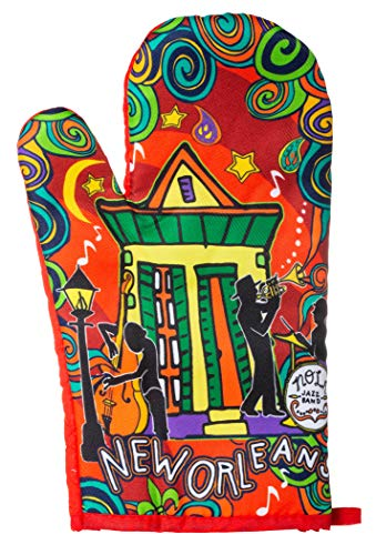 Artisan Owl New Orleans Jazz Music Multicolor Swirl Design Oven Mitt