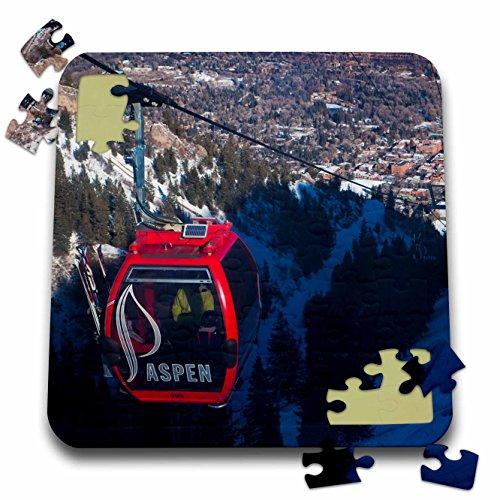 Danita Delimont - Skiing - USA, Colorado, Aspen Mountain Ski Area, Gondola - US06 WBI0008 - Walter Bibikow - 10x10 Inch Puzzle (Colorado Usa Ski)