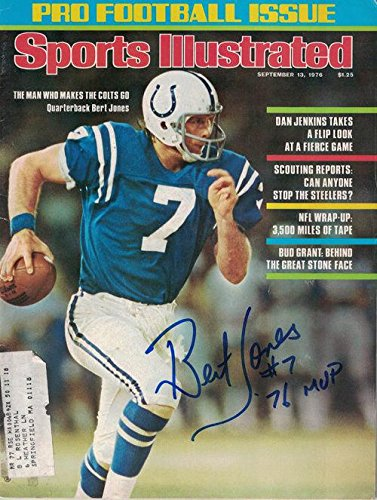 - Bert Jones Autographed/signed Baltimore Colts 15505 Sports Illustrated 9/13/1976 - Autographed NFL Magazines