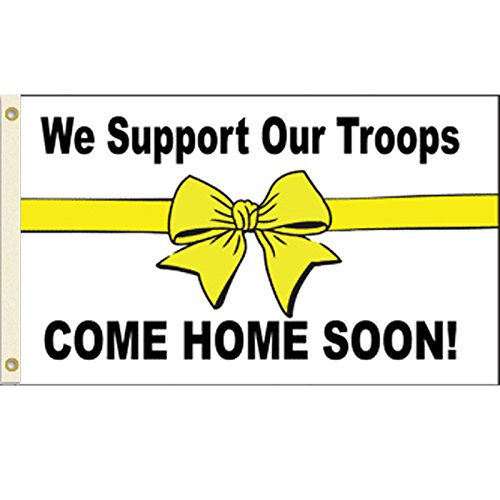 Vista Flags Support Our Troops Come Home Soon Flag Yellow Ribbon Banner Military Pennant 3x5