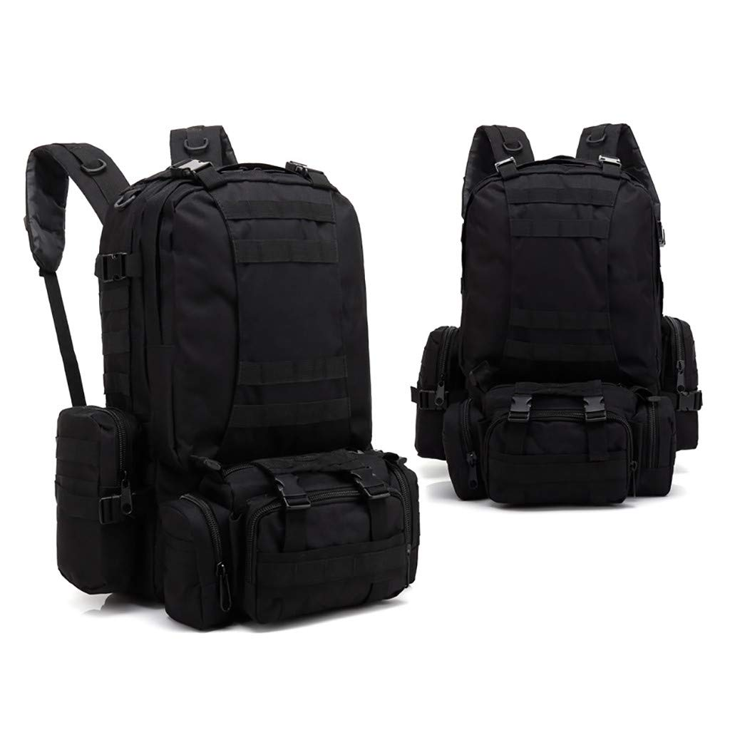 1KTon 55L Built-up Military Tactical Backpack Army Rucksacks 3 Day Assault Pack Combat Molle Backpack Pouch for Hunting Trekking Camping by 1KTon
