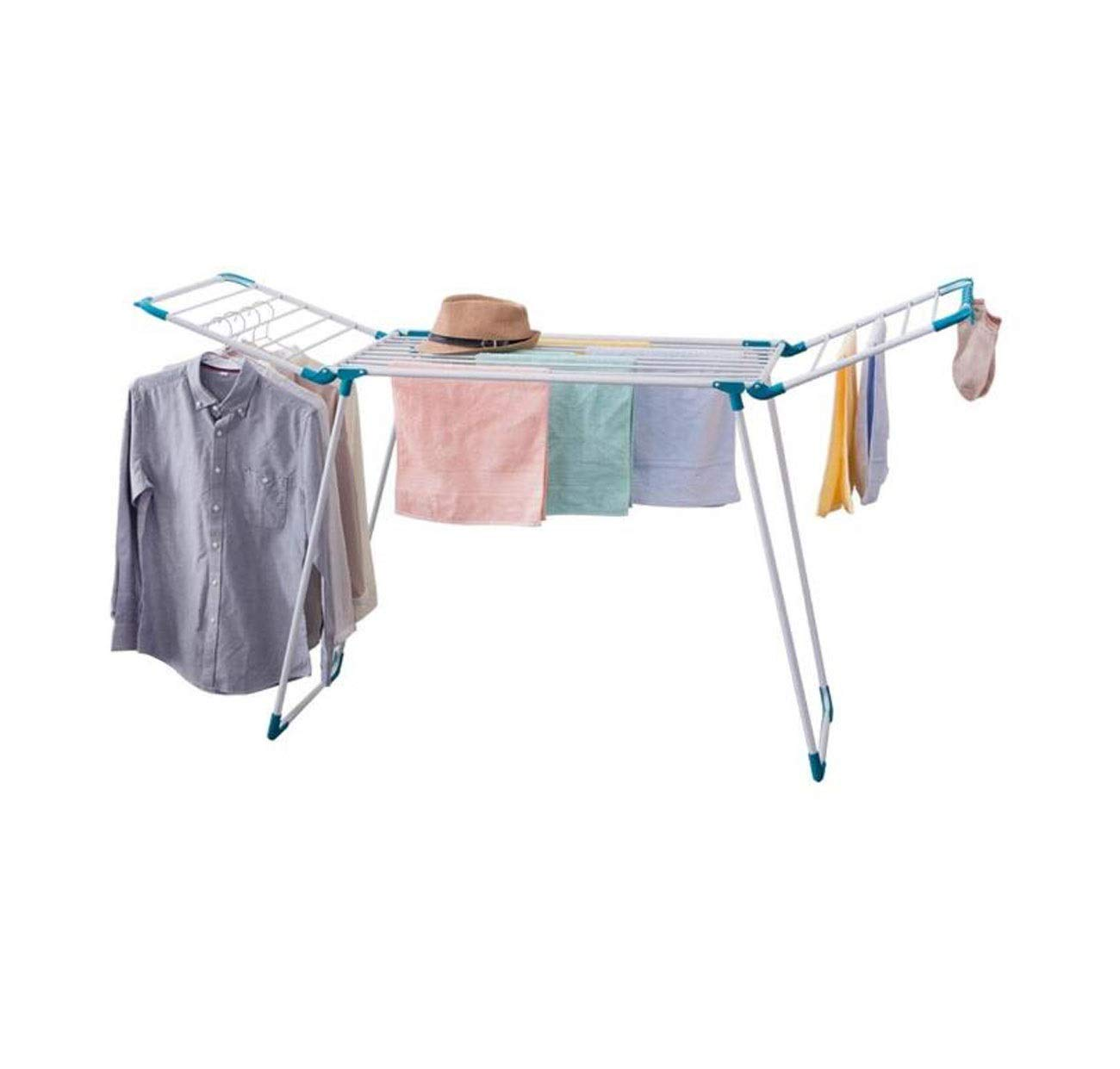 HYZLYJ Drying Rack, Drying Rack, Collapsible Airfoil Drying Rack, Balcony, Floor Drying Rack, Household Drying Rack, Suitable for Indoor Or Outdoor Use