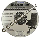 B.C. Upholstery Nailhead Trim with Matching Nails - Pewter - 30 ft