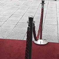 Sistema de gu/ía de Persona Kerafactum Cierre con mosquet/ón Correa de Cierre Cord/ón de Amarre Negro 150 cm Color Negro Cuerda de conexi/ón