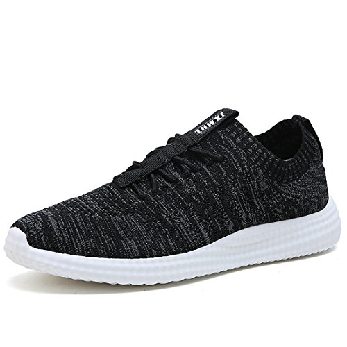 ANTETOKUPO Mens Running Shoes Casual Walking Sneakers Workout Athletic Shoe for Men (8, Black-A)