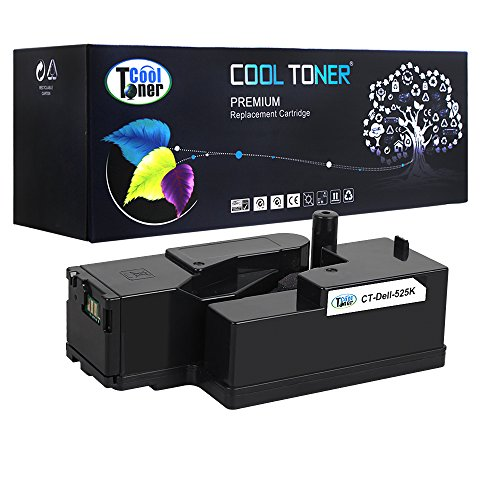 Cool Toner 1 Pack Black 2,000 Pages Compatible Toner Cartridge Replacement for Dell 593-BBJX E525 525 Used For Dell MFP E525W