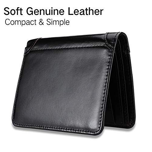 Men/'s Genuine Leather Wallet High Quality Luxury Soft Smooth Wallet Credit...
