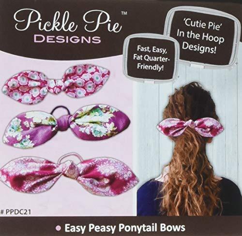 피클 파이 디자인 쉬운 PEASY 포니 테일 활 기계 자수 디자인 CD 패턴
