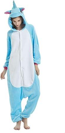 jysport pijamas de unicornio, forro polar, con capucha, pijama para niños, mujer, hombre