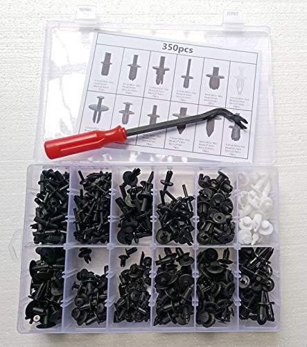 350Pcs Car Body Plastic Push Pin Rivet Fasteners Trim Moulding Clip Screwdriver - Moulding Rivet