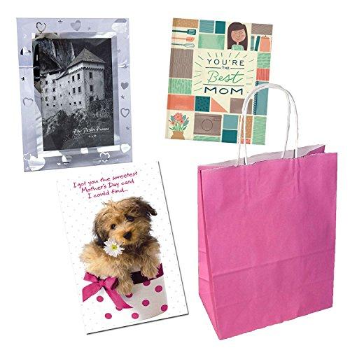 Southwest Vistas Best Mom Christian Gift Set with Book, 4x6 Frame, Mother's Day Card and Bag (4 Item Bundle)