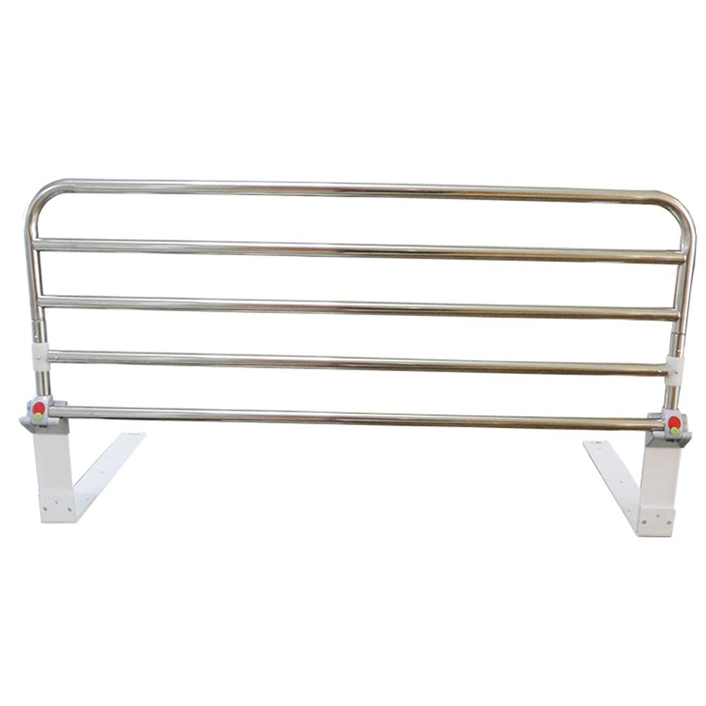Ibnotuiy Foldable Stainless Steel Elderly Bedside Safety Rail Adjustable Bed Rail Guard Safety Side for Home Hospital (35.43 inch)