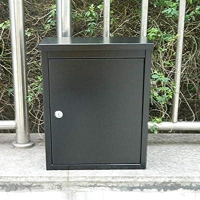 NYDZDM Buzón montado en la Pared, Buzón, Puerta de jardín, Buzón Exterior Resistente a la Intemperie con Llave (Color : Black): Amazon.es: Hogar