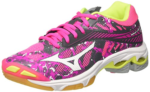 Z4 Lightning Wave Shoes Volleyball Pinkglowhiteirongate WoMen Mizuno WOS Pink qEtn1FtYW