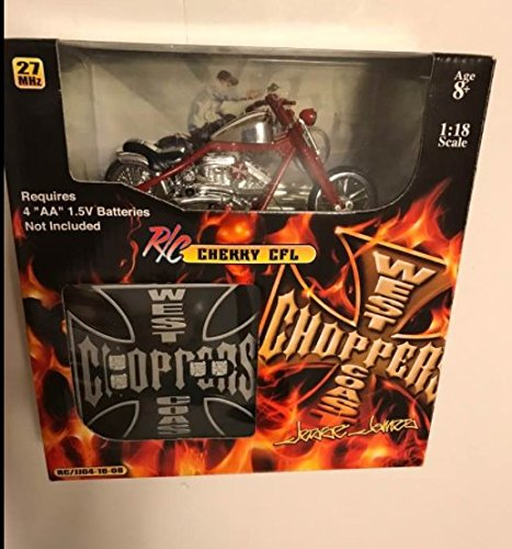 Jesse James West Coast Choppers Cherry Red CFL Remote Control Motorcycle 1:18 (Jesse James West Coast Choppers)