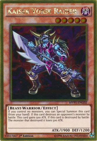 Yu-Gi-Oh! - Kaiser Vorse Raider (MVP1-ENG02) - The Dark Side of Dimensions Movie Pack Gold Edition - 1st Edition - Gold Rare