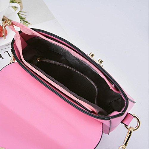 blue Ladies singola Incisione Shopping tracolla Work Bag pink Pearl NVBAO Fashion diagonale Piccolo Magnetic lake borsa Buckle borsa quadrato a Cross Bdw0xHq
