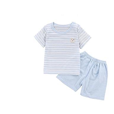 472fa1abc51f Amazon.com  Unisex Baby Boys Girls Summer Cotton Pajama Sleepwear ...