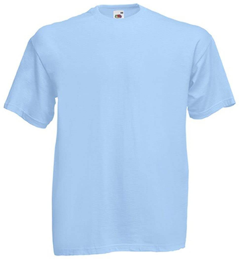shades of utterly stylish new & pre-owned designer Sky Blue T-Shirt Plain Tee Apparel Clothing for him or her