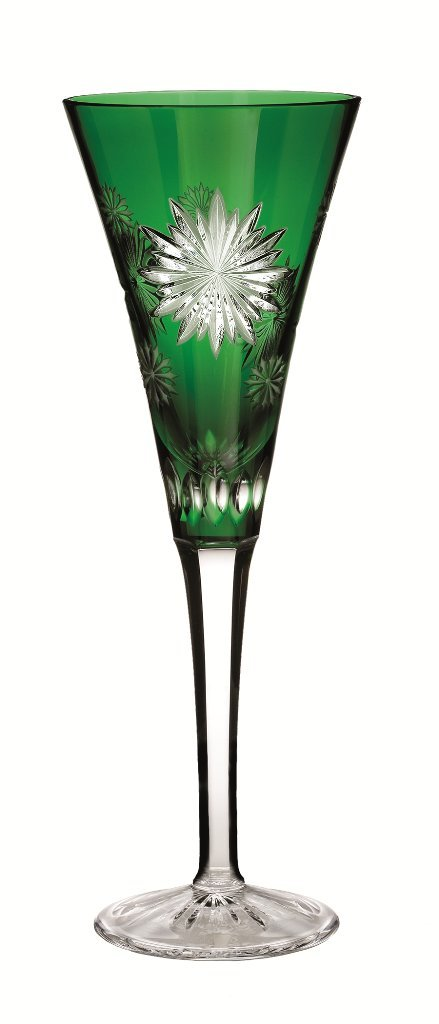 Waterford Crystal Snowflake Wishes for Courage Emerald Flute, 2nd Edition