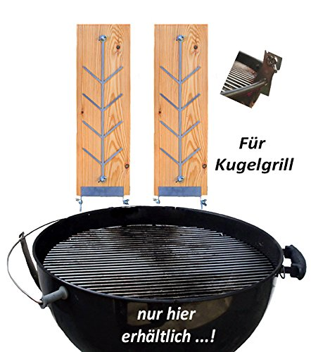 2er Set Buche Flammlachsbrett Flammlachs Brett Räucherbrett für Feuerschalen