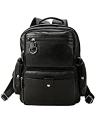 Texbo Full Grain Leather Small Backpack Daypacks School Bag