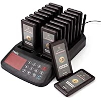 TIVDIO T-115 Wireless Calling System Restaurant Restaurant Pagers Paging System Pager 18 Coaster Pagers Receiver and 1 Keypad Transmitter for Restaurant Food Court