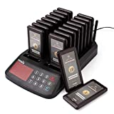 TIVDIO T-115 Wireless Calling System Restaurant Pagers System Wireless Call System Paging System with 18 Coaster Pager Receivers and 1 Keypad Transmitter for Restaurant Food Court