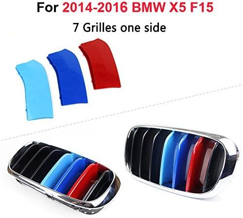 Muchkey Per X5 F15 Rene griglia radiatore 3D m styling griglia anteriore Insert Trim Motorsport strisce griglia di performance adesivi 7 griglie