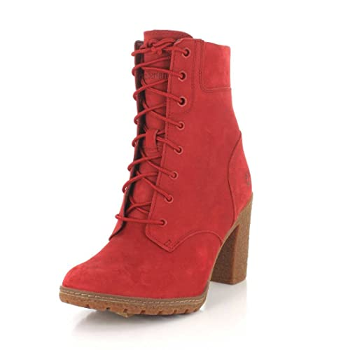 Timberland Women s Limited Release Ruby RED Glancy 6-INCH Boots (8.5 ... 8d27518c1