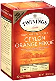 Twinings Black Tea, Ceylon, 20 Count Bagged Tea (6 Pack)