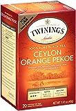 Twinings of London Ceylon Orange Pekoe Tea, 20 Count (Pack of 6)