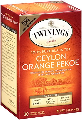 India Orange Tea (Twinings Black Tea, Ceylon, 20 Count Bagged Tea (6)