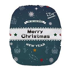 Alva Baby Christmas Design Reuseable Washable Pocket Cloth Diaper Nappy + 2 Inserts QD12