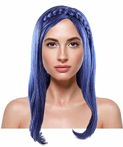 Evie And Mal Costumes (Womens Wavy Purple Fancy Wig for Adult HW-1417)