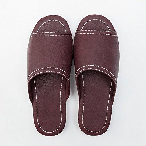 domicile imperméables facultative femmes Femmes 7 Couples couleurs à G taille bain pour HAIZHEN Pantoufles en femmes PU intérieures Chaussons chaussures d'été usables glissants Pour option Pq4xw0n