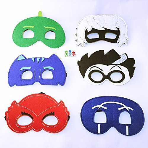 [PJ Masks PJ Masks Set of 12 Catboy Owlette Gekko Disney Junior Pretend Play Party Favors Felt Masks Catboy Owlette Gekko Costumes - by] (Disney Junior Pj Masks Costumes)
