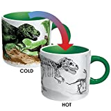 Disappearing Dino Mug - Heat Sensitive Color Changing Coffee Cup - Add Hot Liquid and Watch Dinosaurs Turn to Fossils