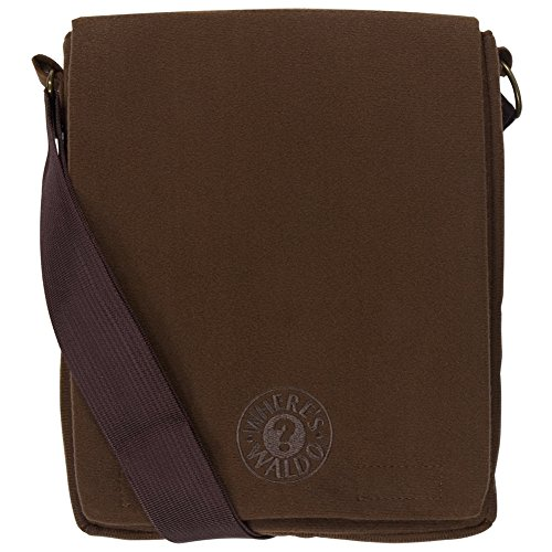 Where's Waldo - Logo Messenger Bag Brown]()