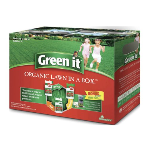 Green it Organic Lawn Care Fertilizer in a Box