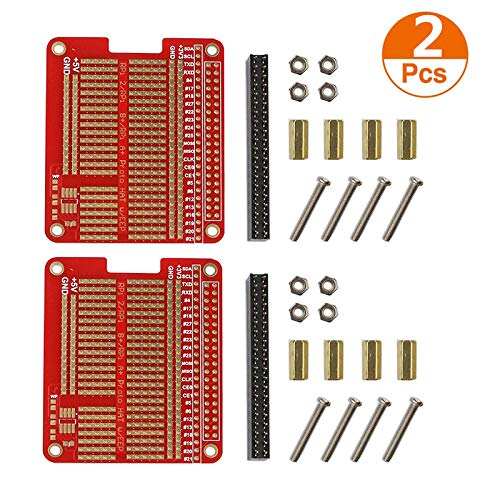 Organizer 2pcs DIY Prototype Hat Shield Extension Board for Raspberry Gpio Board with Screws for Raspberry Pi 3/2 Model B+ Plus