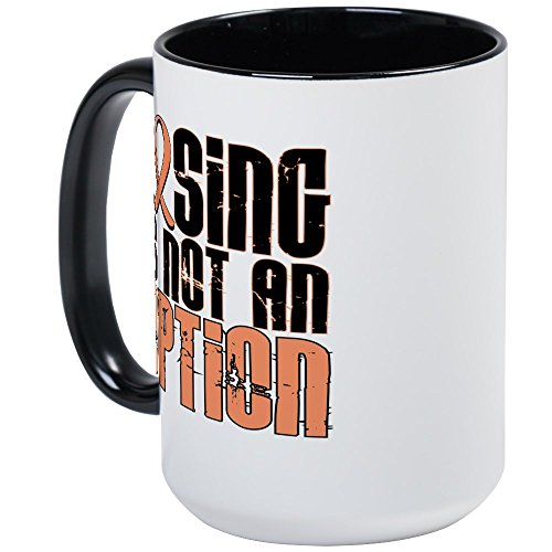 CafePress Losing Is Not An Option Endometrial Cancer Large M Coffee Mug, Large 15 oz. White Coffee ()