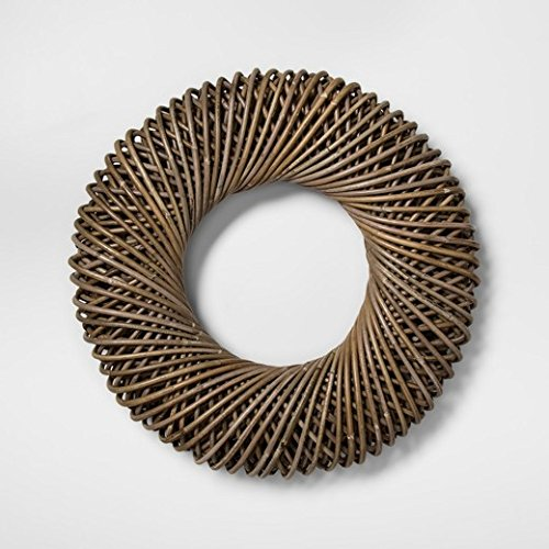 "21.6"" Koboo Rattan Wreath Brown - Smith & Hawken™"