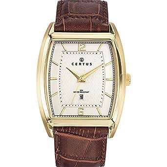 Certus Herren-Armbanduhr Analog Quarz Leder 612371