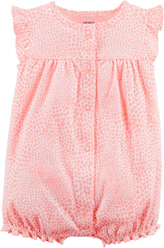 Carter's Baby Girls' Kitty Snap-up Cotton Romper 3 Months