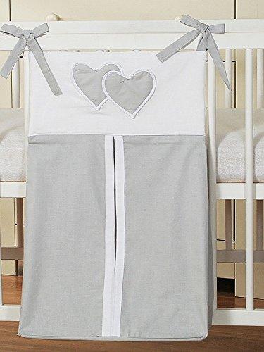 Bolsa de Pañales gris con corazones