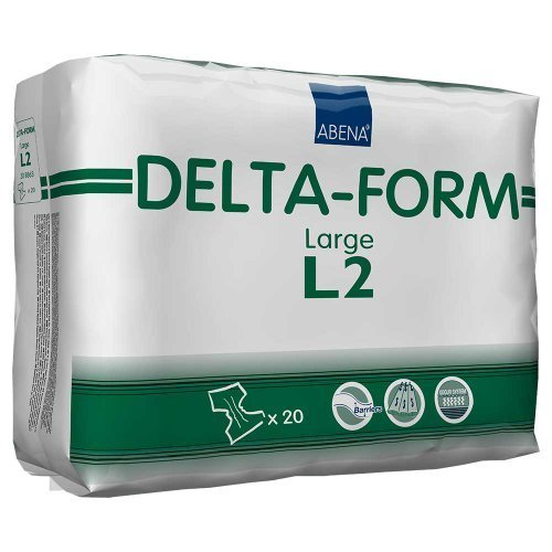 Abena Delta-Form L2 Briefs, Large, Case/80 (4/20s) by Abena by Abena