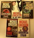 Michael Crichton Set (Sphere, Congo, The Andromeda Strain, The Lost World, Jurassic Park)