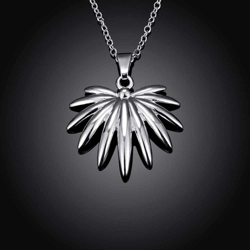 Women Elegant Jewelry Fashion Silver Creative Flower Pendant Europe and America Women's Necklace