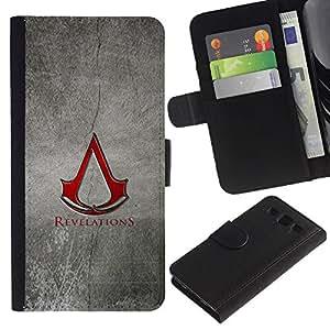 YiPhone /// Tirón de la caja Cartera de cuero con ranuras para tarjetas - Revelaciones - Samsung Galaxy S3 III I9300